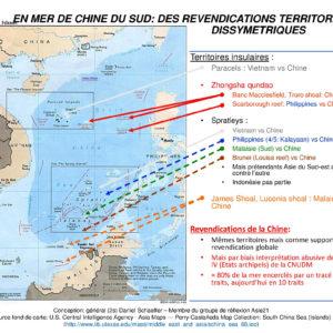 carte-2-revendications-dyssimetriques-mer-de-chine Daniel Schaeffer Asie21
