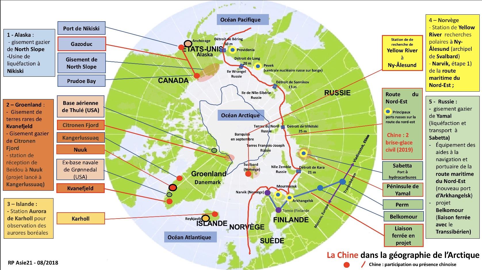 La Chine dans la géographie de l'Arctique – China in the geography of the Arctic