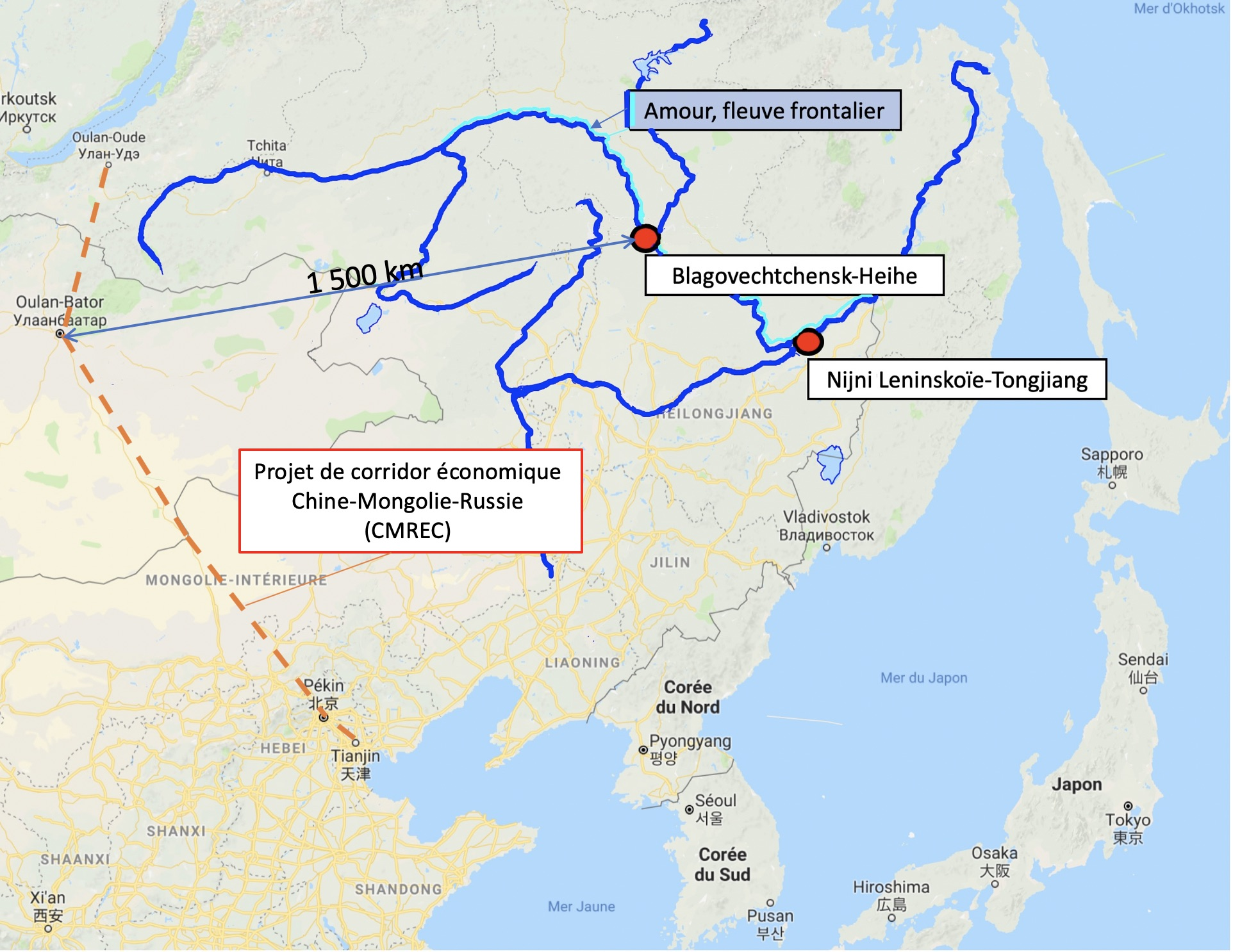 Russie – ChineSur le pont de Blagovechtchensk   中俄邊界大橋的糾結