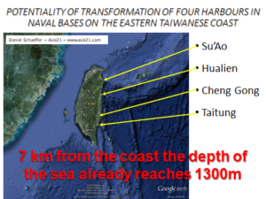 POTENTIALITY OF TRANSFORMATION OF FOUR HARBOURS IN NAVAL BASES ON THE EASTERN TAIWANESE COAST