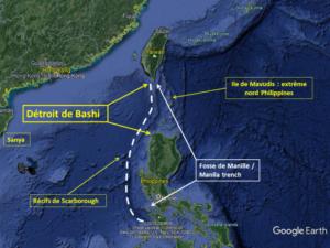 détroit de Bashi et zone potentielle d'installation de « colonie robotique », Daniel Schaeffer, Asie21