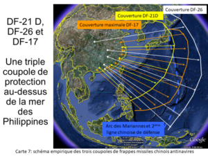 Schéma empirique trois coupoles de frappes missiles chinois antinavires, Daniel Schaeffer, asie21.com